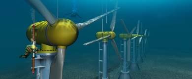 Energías Maremotriz y de Corrientes Marinas. Turbinas Submarinas de 1 MWe.